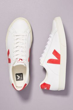 Veja red low-top sneakers and comfortable