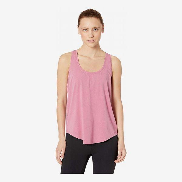 Amazon Brand Core 10 Women's Soft Pima Cotton Stretch Yoga Racerback Tank