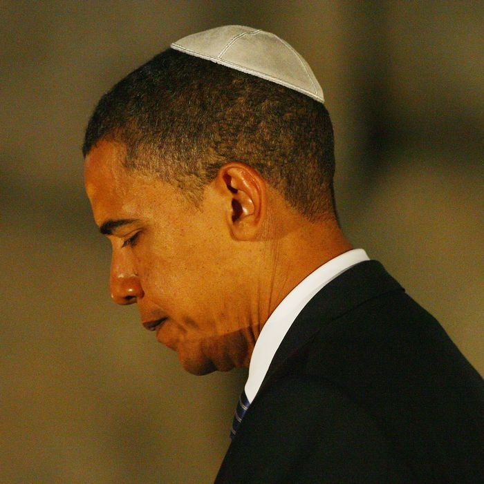 Democratic presidential candidate Sen. Barack Obama pays his respects in the Hall Of Remembrance during a visit to the Yad Vashem Holocaust Museum, on July 23, 2008 in Jerusalem, Israel. Obama continued his tour of the middle east with a visit to the Yad Vashem Holocaust Museum, which commemorates the six million Jewish Holocaust victims killed by the Nazis during World War II. (Photo by Daniel Berehulak/Getty Images)
