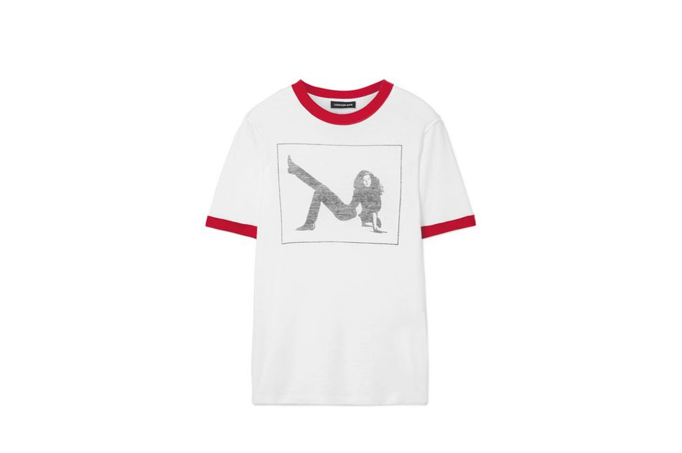 CALVIN KLEIN 205W39NYC Printed slub cotton-jersey T-shirt