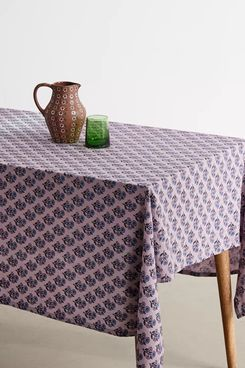 UO Overdyed Block Print Tablecloth