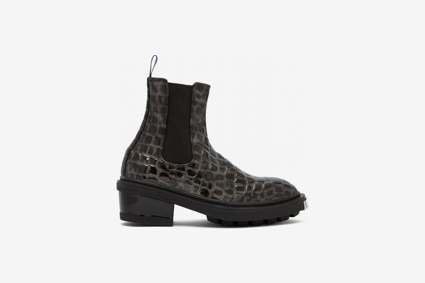 1a18cab4228a Eytys Nikita Crocodile-Effect Leather Chelsea Boots