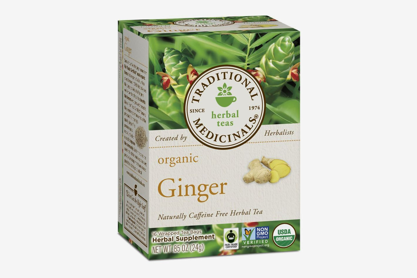 Traditional Medicinals Organic Ginger Tea, 16 Tea Bags (6-pack)