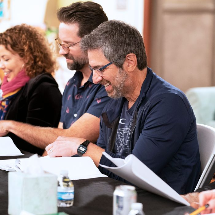 A pre-coronavirus One Day at a Time table read with guest star Ray Romano.