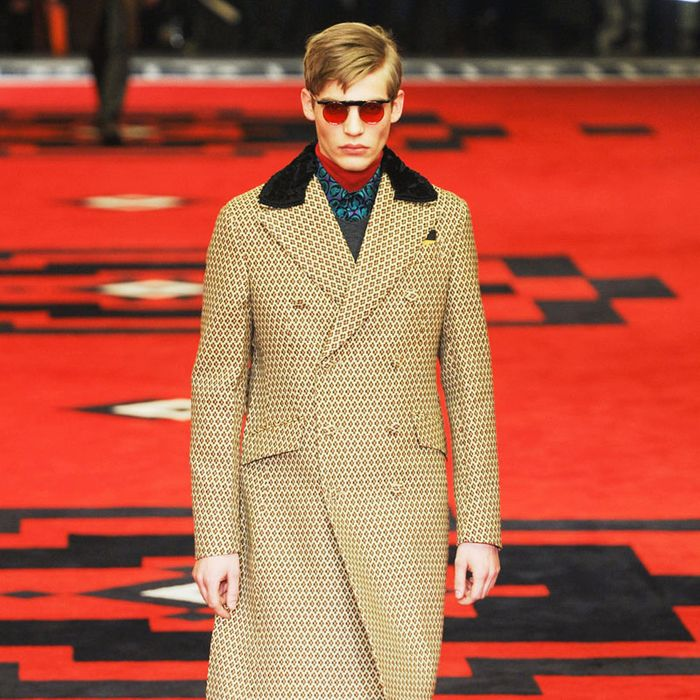 A look from Prada's fall 2012 menswear show.