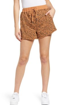 BLANK NYC Leopard Knit Shorts