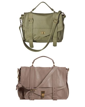 Target's Mossimo messenger (top) and Proenza's PS1 bag (bottom).
