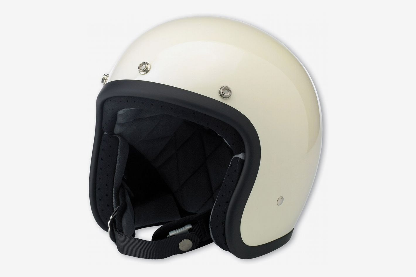Biltwell Inc. Bonanza Gloss Vintage White Open Face Helmet