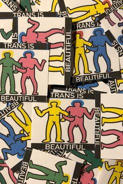 Trans is Beautiful Stickers