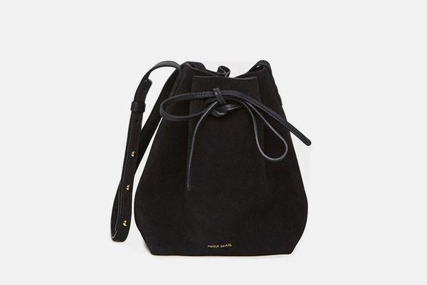 Mansur Gavriel Suede Mini Bucket Bag