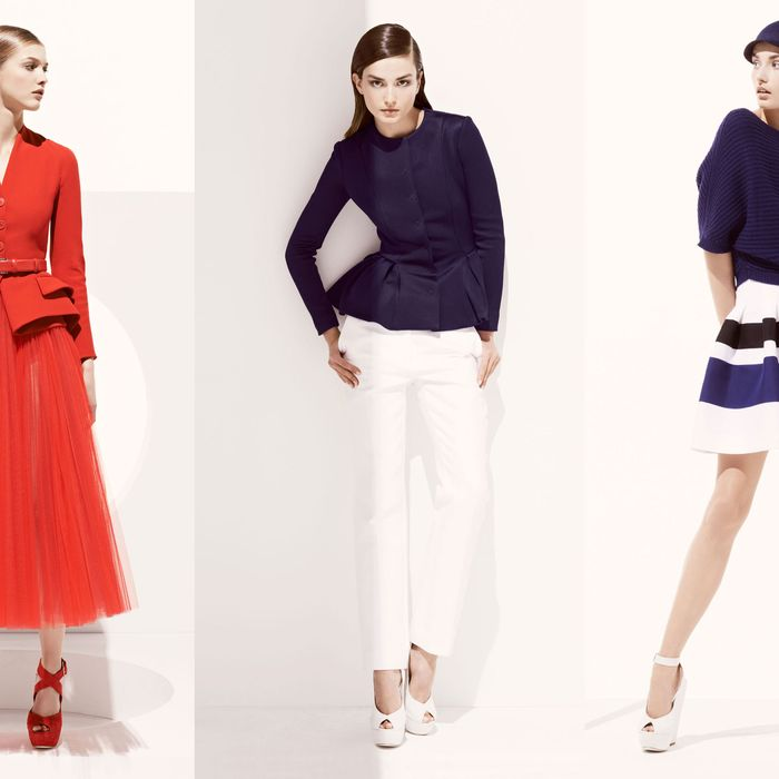 Looks from Dior's resort 2013 collection.