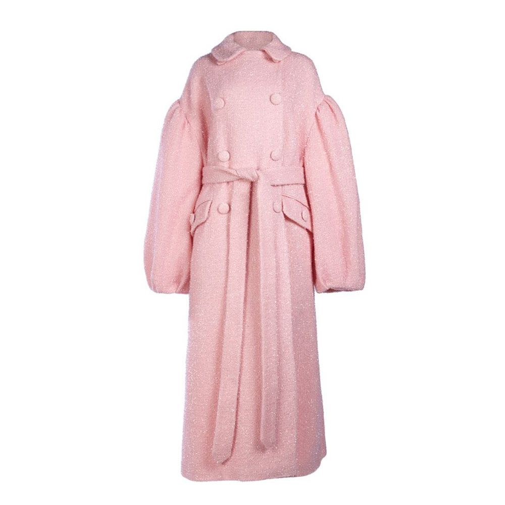 Simone Rocha sparkle wool double breasted coat