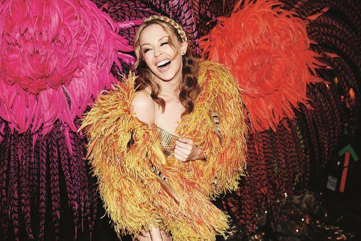Kylie Minogue at Saks.