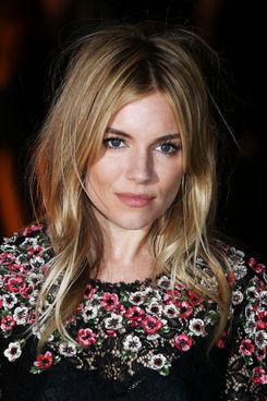 Sienna Miller attends an evening celebrating with The Global Fund featuring the first green carpet challenge at Apsley House on September 16, 2013 in London, England.