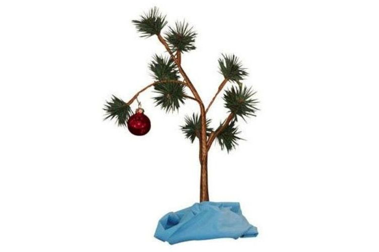 charlie brown christmas tree with blanket 24 tall