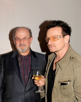 Salman Rushdie, Bono== SALMAN RUSHDIE Launch Party for