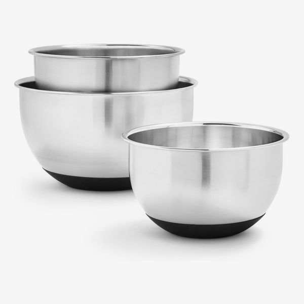 Sur La Table Non-Skid Stainless Steel Mixing Bowls, Set of 3