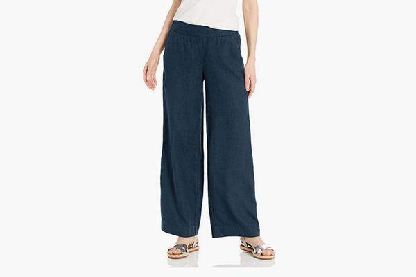 Daily Ritual Women's Linen Wide-Leg Pant