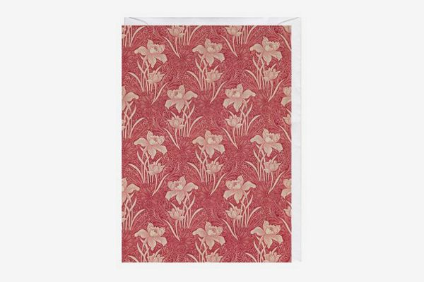 Floral Pattern Designed by William Morris Greeting Card