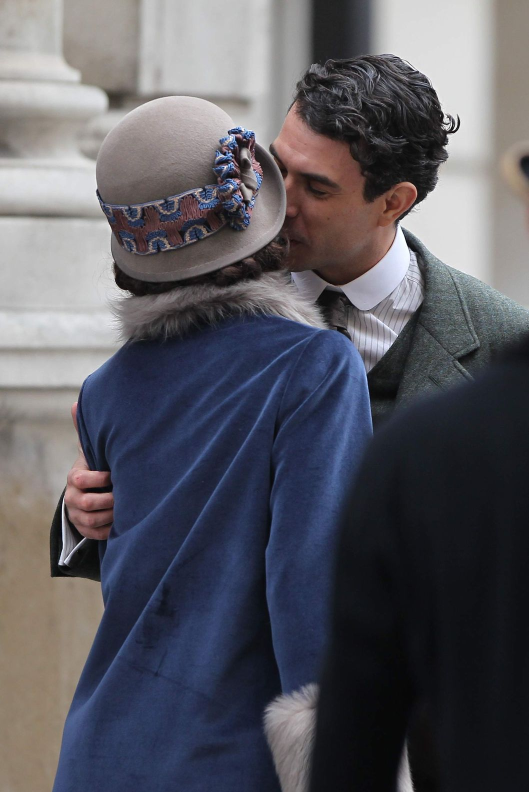 EXCLUSIVE Characters Lady Mary Josephine Crawley played by Michelle Dockery and her on screen love interest Viscount Anthony Gillingham played by Tom Cullen are seen filming the hit ITV drama Downton Abbey on location in London, although the set design suggests that they are Liverpool for these particular scenes.Featuring: Michelle Dockery,Tom CullenWhere: London, United KingdomWhen: 15 Feb 2014Credit: David Sims/WENN.com