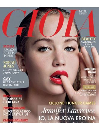 Jennifer Lawrence for <em>Gioia</em>.