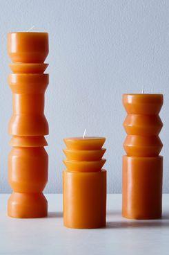 Areaware Totem Pillar Candles, Set of 3