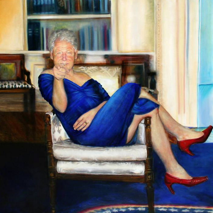 Jeffrey Epstein Had A Painting Of Bill Clinton In A Dress