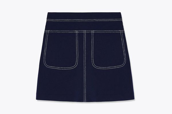 Pique Contrast Stitch Skirt