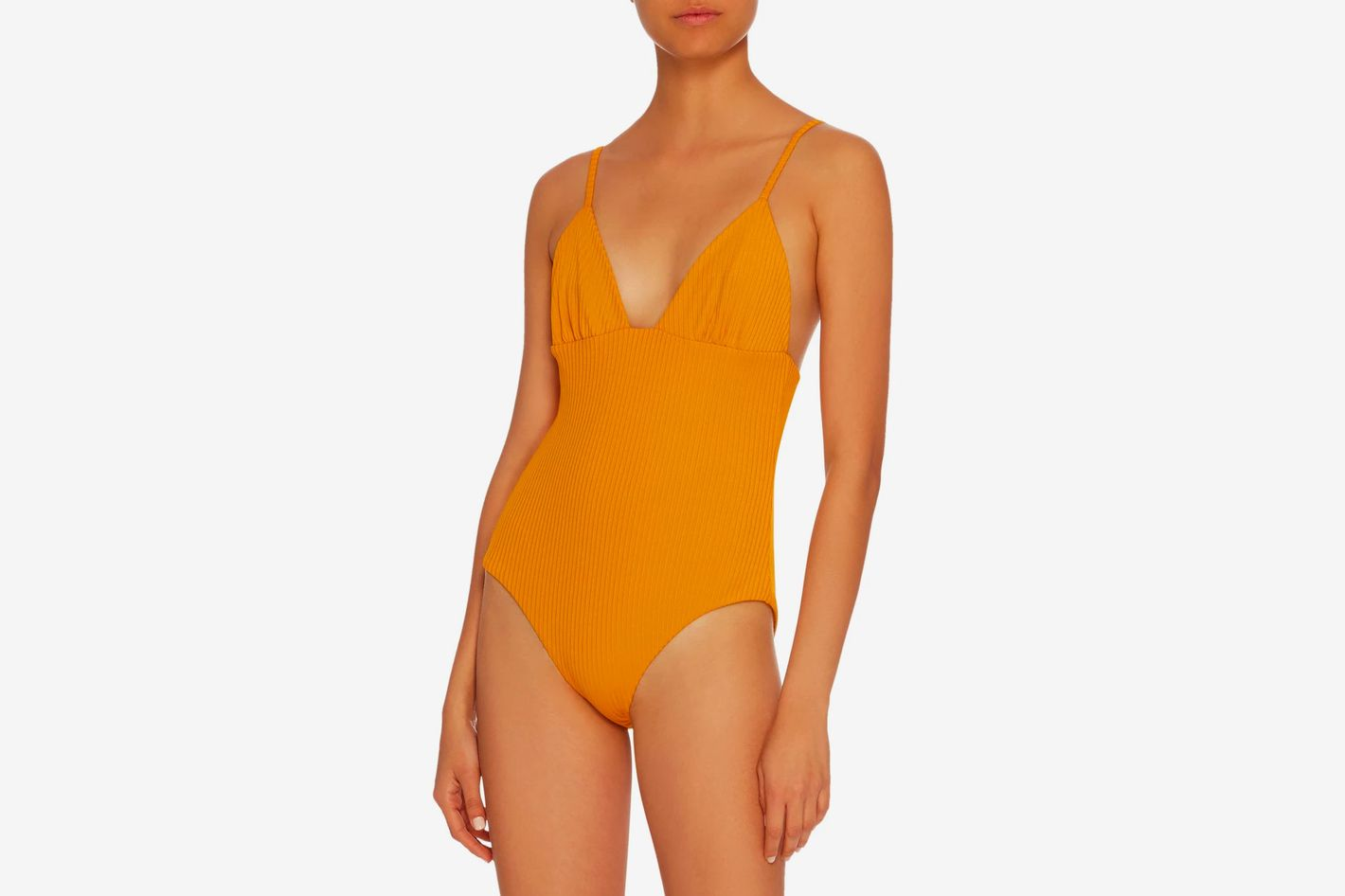 Mara Hoffman Virginia Ribbed One-Piece Swimsuit