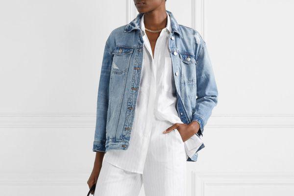 Madewell Oversized Distressed Denim Jacket