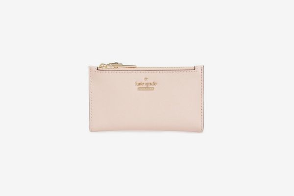 Kate Spade New York Cameron Street Mikey Crosshatched Leather Wallet