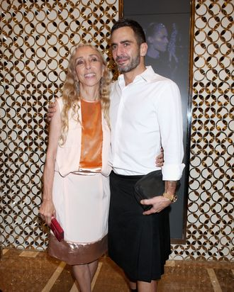 Franca Sozzani and Marc Jacobs.