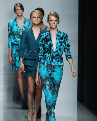Looks from Ungaro's spring 2012 collection.