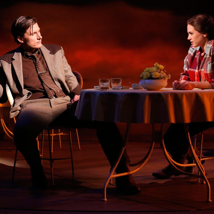 PJ Griffith and Mackenzie Mauzy in Giant, music and lyrics by Michael John LaChiusa, book by Sybille Pearson, and directed by Michael Greif, running at The Public Theater at Astor Place through December 2.