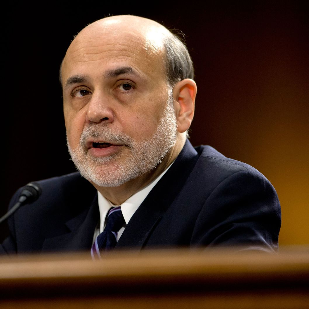 26 Feb 2013, Washington, DC, USA --- Federal Reserve Board Chairman Ben Bernanke testifies on Capitol Hill in Washington, Tuesday, Feb. 26, 2013, before the Senate Banking Committee hearing to deliver the central bank's Semiannual Monetary Policy Report to the Congress. (AP Photo/Carolyn Kaster) --- Image by ? Carolyn Kaster/ /AP/Corbis