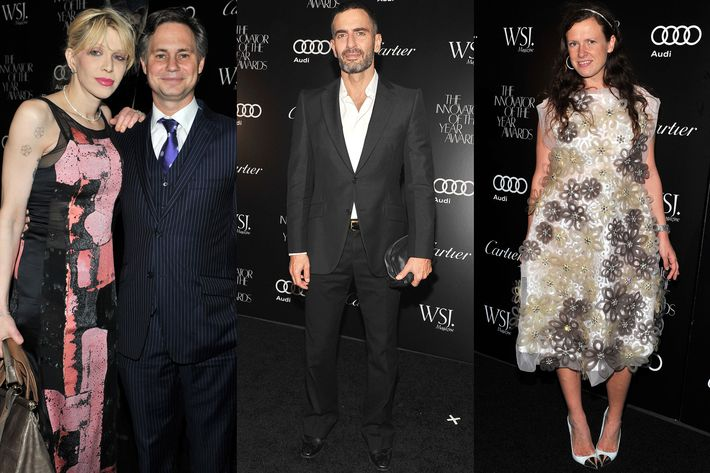 Courtney Love, Jason Binn, Marc Jacobs, and Katie Grand.