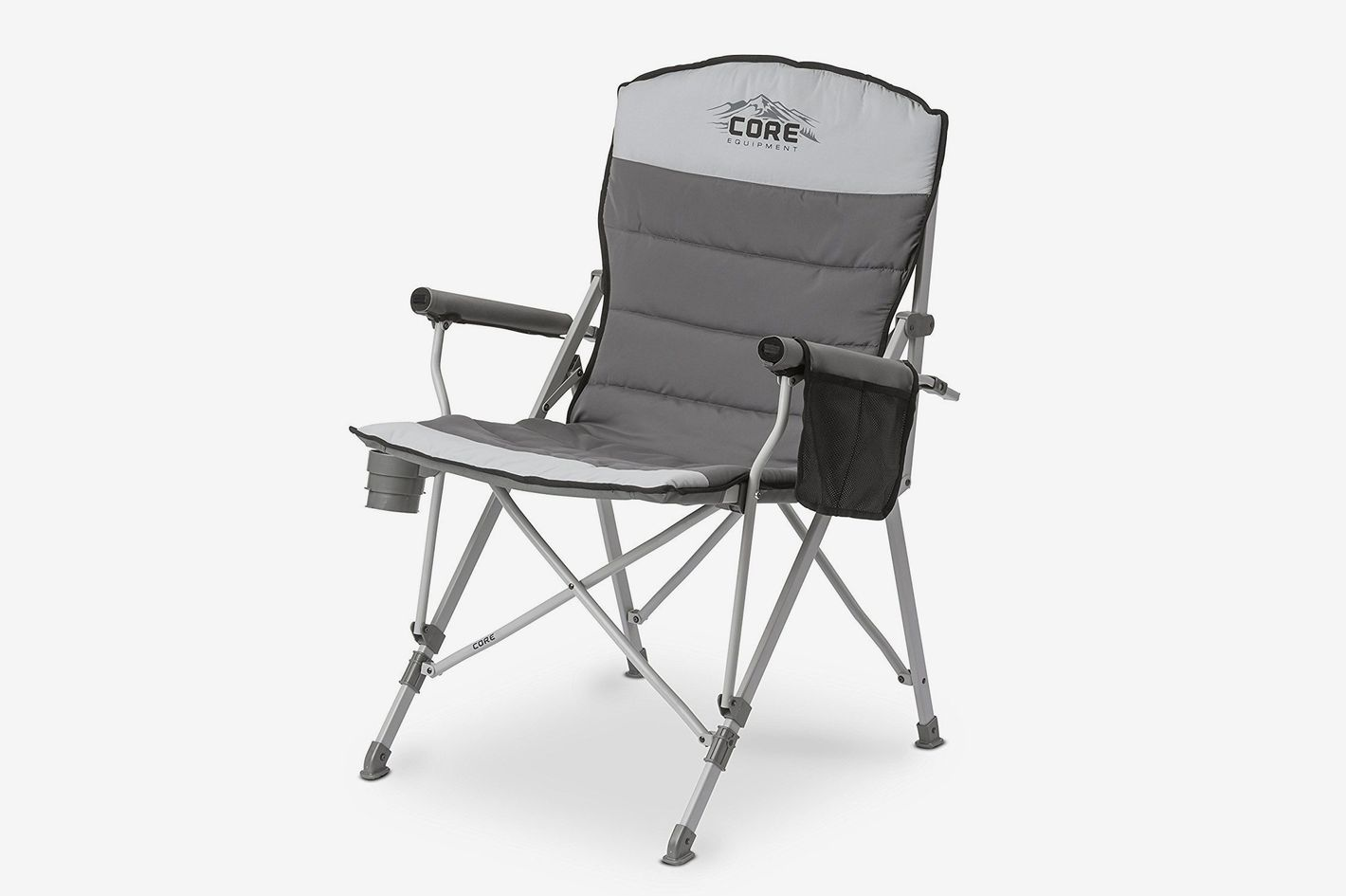 Merveilleux The Best Comfortable Lawn Chair. Core Equipment Folding Padded Hard Arm  Chair With Carry Bag