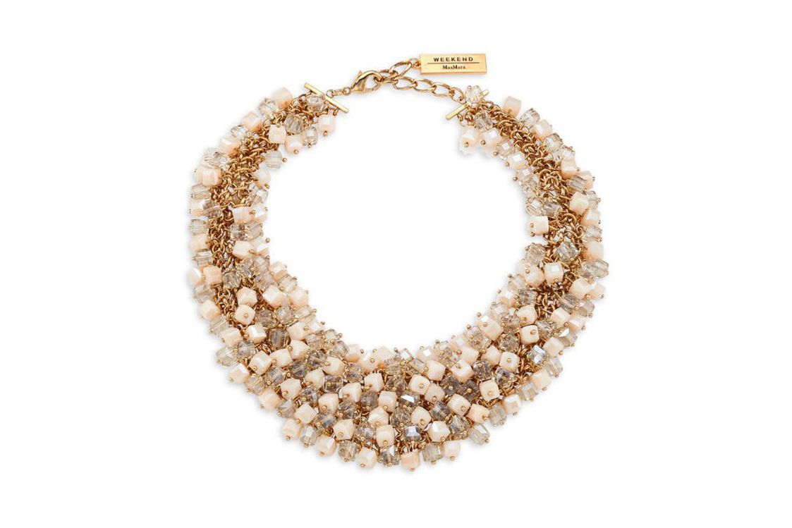 Weekend Max Mara Dialogo Beaded Collar Necklace