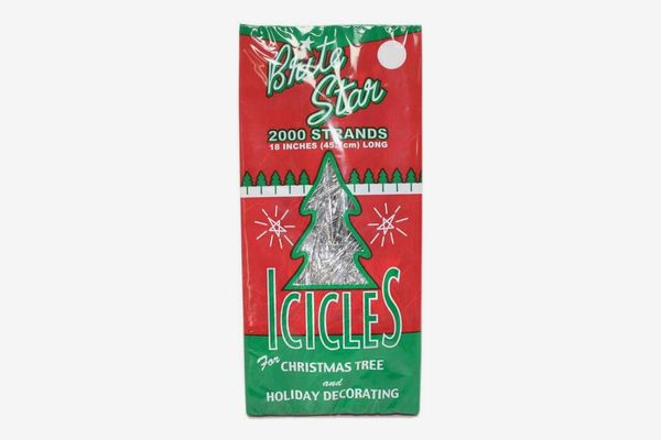 Brite Star Silver 18-Inch Icicle Tinsel — 2000 Strands