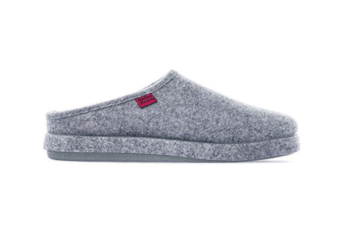 Andres Machado AM001Felt Slippers in Gray