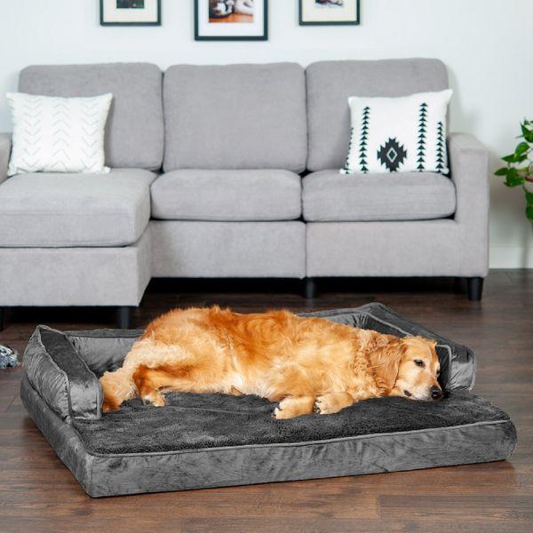 FurHaven Plush & Velvet Orthopedic Comfy Couch Dog & Cat Bed