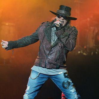 Singer Axl Rose of Guns N' Roses.