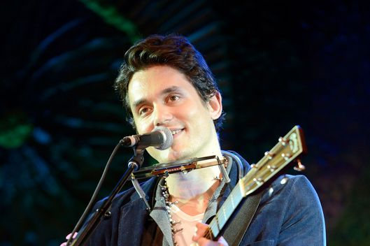 Recording artist John Mayer performs onstage during Hollywood Stands Up To Cancer Event with contributors American Cancer Society and Bristol Myers Squibb hosted by Jim Toth and Reese Witherspoon and the Entertainment Industry Foundation on Tuesday, January 28, 2014 in Culver City, California.