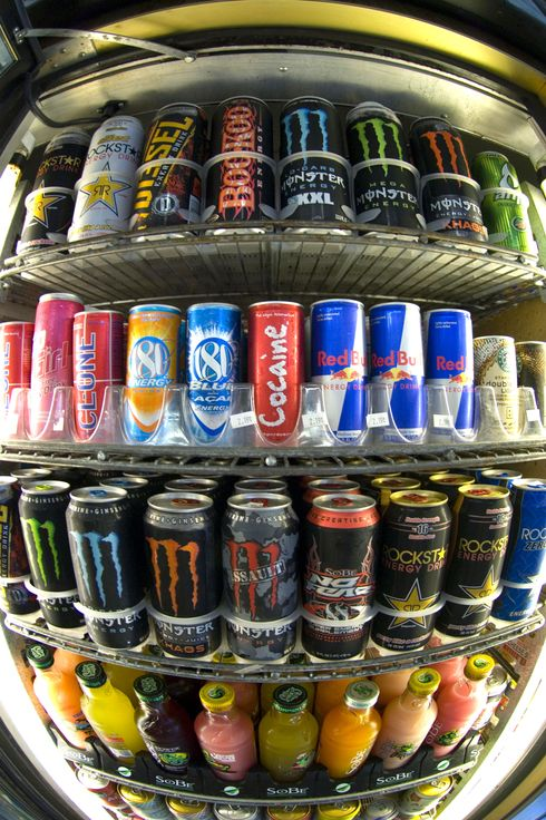 The kick from caffeine has a growing number of consumers jumping into energy drinks-soft drinks spiked with nutritional aids and stimulants despite warnings from health professionals. The drinks are often aimed at the youth market with edgy names like Rockstar and Full Throttle, and the provocatively named Cocaine Energy Drink, which despite its name contains no illegal ingredients. The typical energy drink sells for two dollars or more per can or bottle, well above the average price of traditional soft drinks.