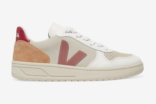 Veja + Net Sustain V-10 Mesh, Suede and Leather sneakers
