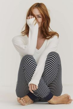 Fat Face Sparkle Stripe Lounge Pants