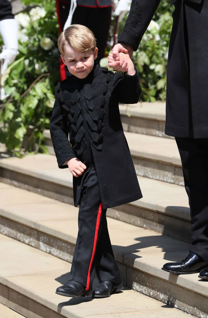 Prince George at the royal wedding.