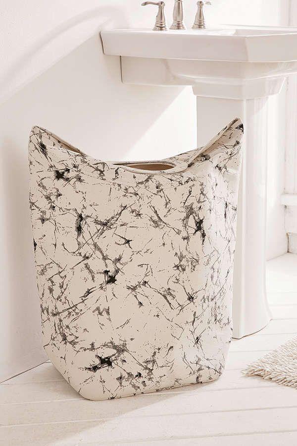 Batik Crackle Standing Laundry Bag Hamper