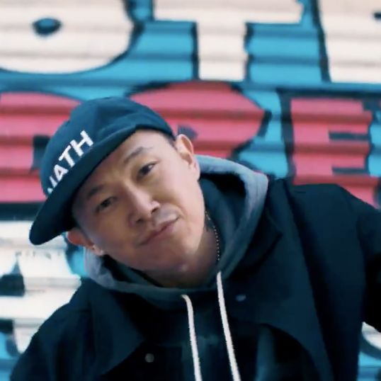 MC Jin in his campaign video for Andrew Yang.