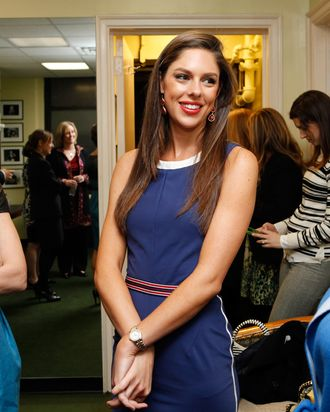 Abby Huntsman Livingston at the Women In Politics Panel With Chelsea Clinton hosted by Glamour magazine at 92nd Street Y on March 28, 2012 in New York City.